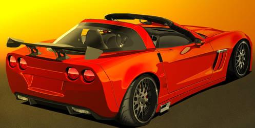 Corvette in Orange