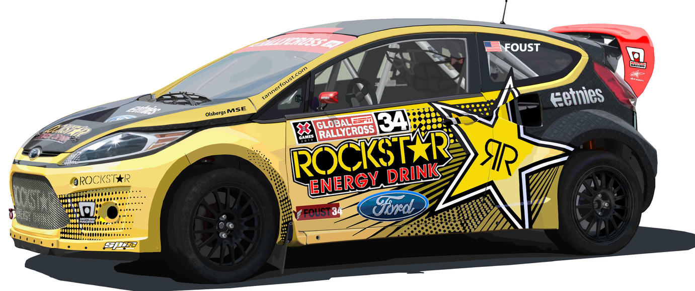 Tanner Foust's Ford Fiesta Rally car. by JoWulf on DeviantArt