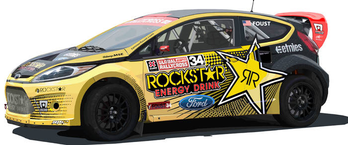 Tanner Foust's Ford Fiesta Rally car.