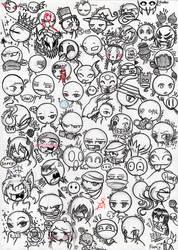 RHG - Expressions sketch/pen (Fara team)- Page1 by farahin001