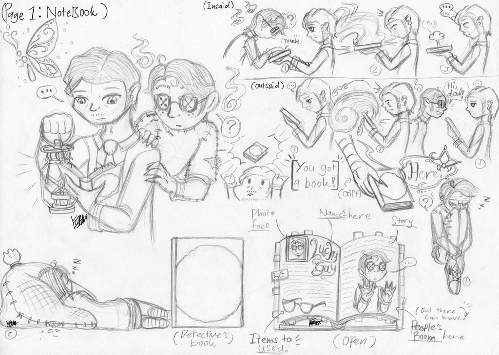 Identity V: Notebook (Sketch my idea) by farahin001 on DeviantArt