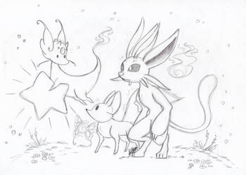Little light - New friends?! (Sketch crossover) by farahin001