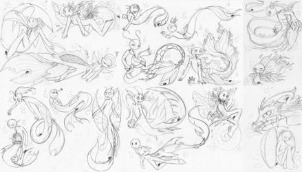 SM.MC - Merman and Mertail (Sketch HC part 2) by farahin001