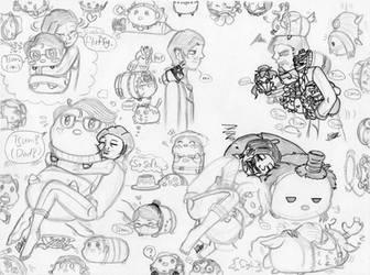 Identity V: Tsum-tsum S or H (Sketch) by farahin001