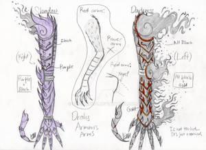 Drahs: Armor's arms (My OC)