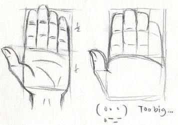 Tutorial Sketch-hand (Only left was correct.)