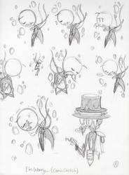 Thscfau: I'm Worry... (Comic Sketch AU)
