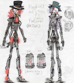 ThscAU: Reg and RHM - Cyborg reborn (Redraw/AU)