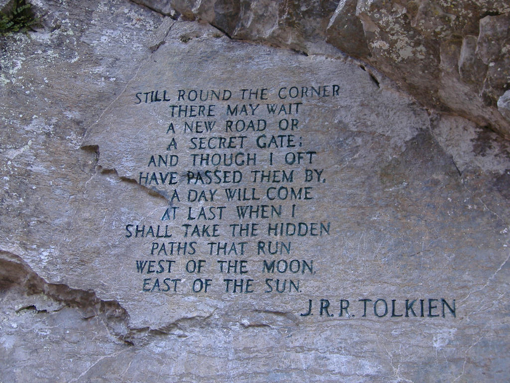 Tolkien quote carved by xonexlastxteardropx on deviantart