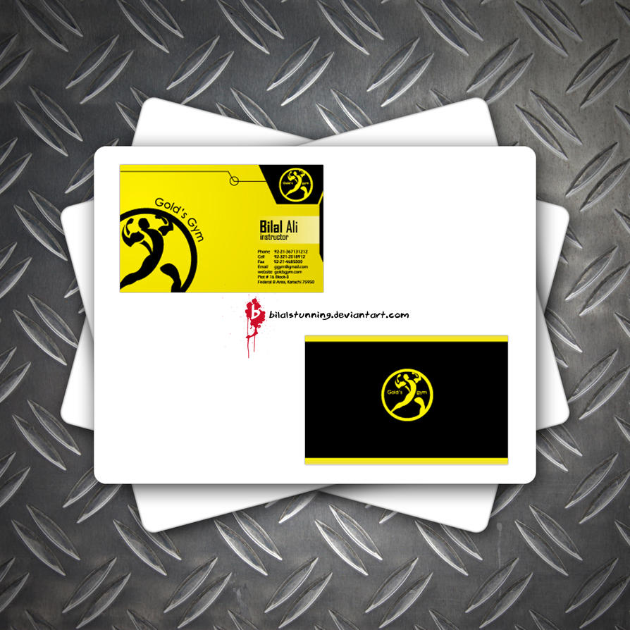 business card - golds gym by bilalstunning on DeviantArt