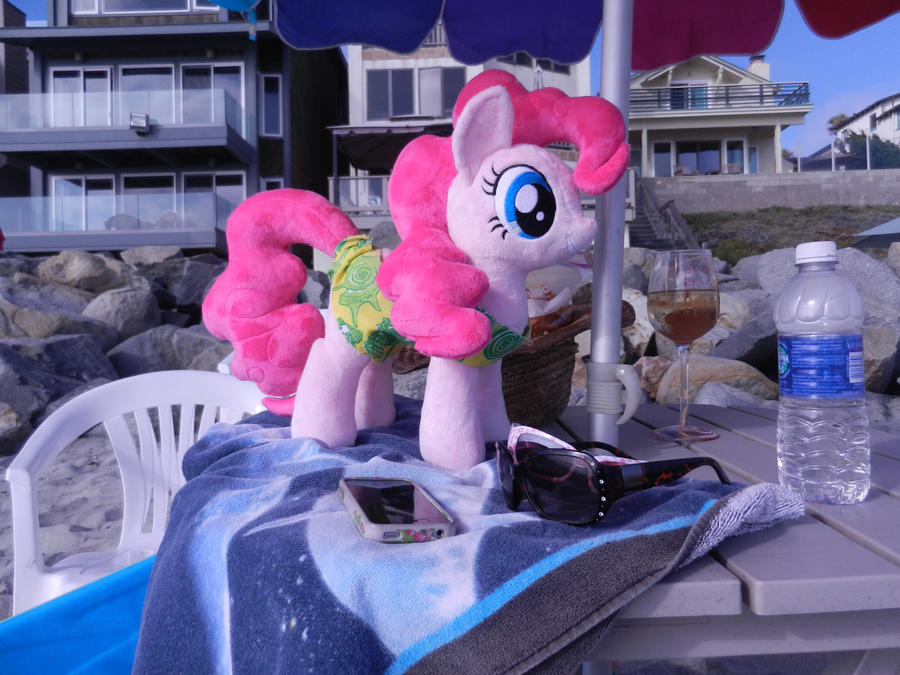 She is thinking about going out to the water. by EquestriaPlush
