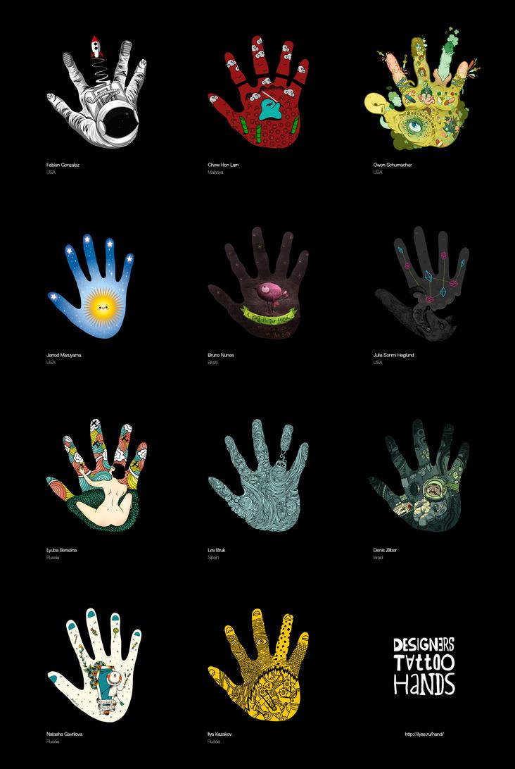 Designers tattoo hands by Lish0ffs