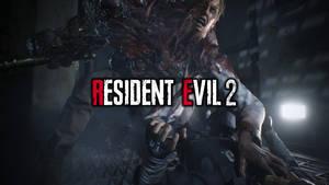 Resident Evil 2 - Leon vs. ''G'' wallpaper HD