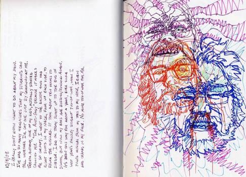 Migraine Journal Entry - Self Portrait