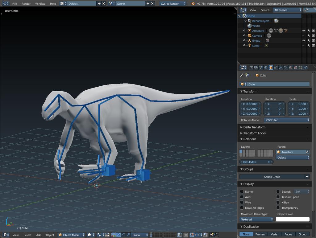 Iguanodon Model (WIP part 3?) by DinoBrony016