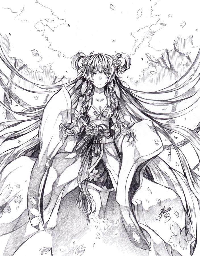 Goddess of the Sakura by glaciesClOvEr