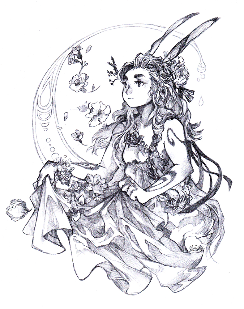 Lunar Bunny by glaciesClOvEr