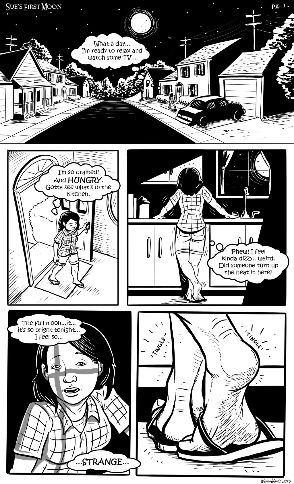 Sue's First Moon pg1 by Were-World