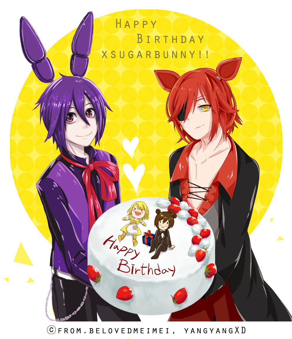 [FNAF] Happy Birthday / To.xsugarbunny By YangYvY On