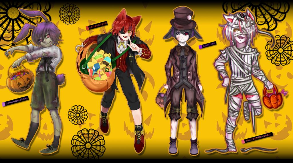 FNAF] Happy Halloween / collab by YangYvY on DeviantArt