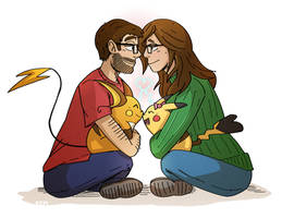 Pokemon Couple: JD and Mel by SnazzyChipz