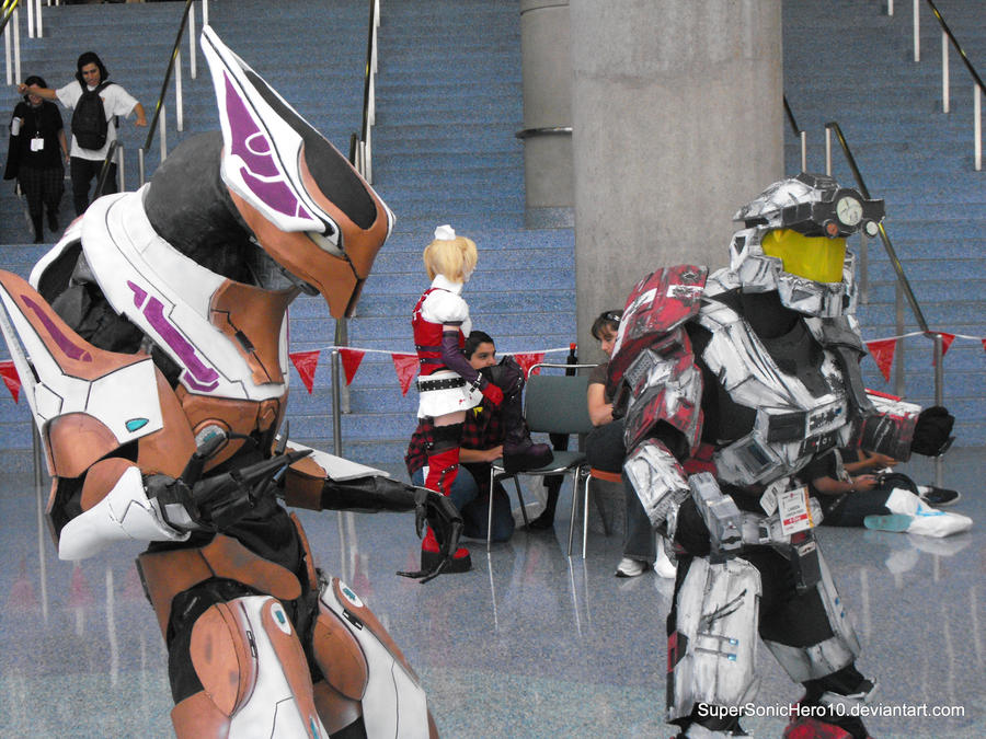 Spartan and Elite Cosplay by SuperSonicHero10