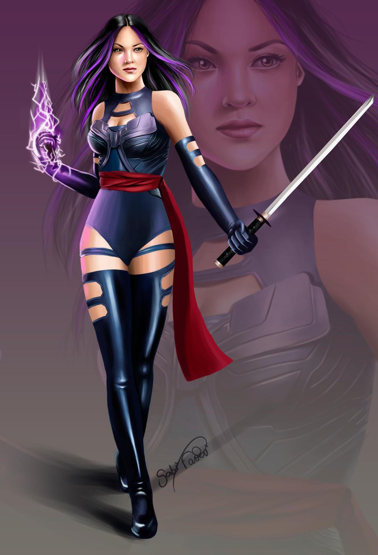 Marvel Psylocke Art Psylocke Final by gabi...