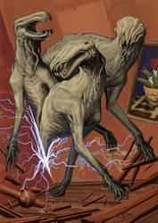 Tindalos kutya'i/ The Hounds of Tindalos by vsqs