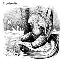 Inktober2017 Day 4: Underwater by vsqs