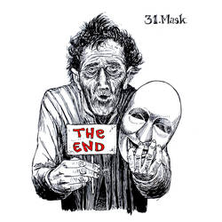 Inktober 2017 31. nap/Day 31: Mask