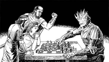 Chess game with a demon