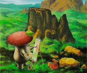 mushroom painter