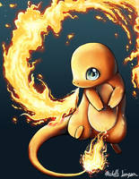 Charmander: Fire Dance by michellescribbles