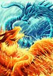 Ice dragon vs Fire dragon