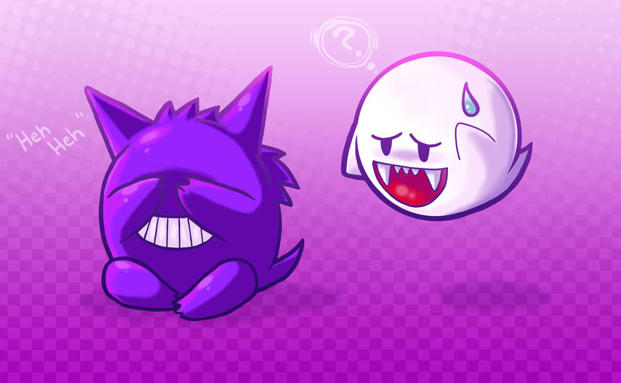 ghosties: boo and gengar by michellescribbles on DeviantArt