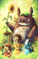 Totoro fan art by michellescribbles