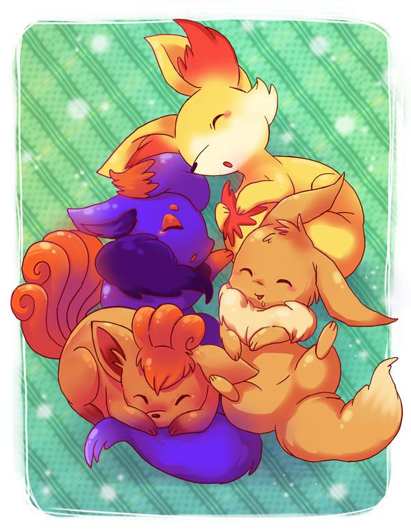 Fox love by michellescribbles