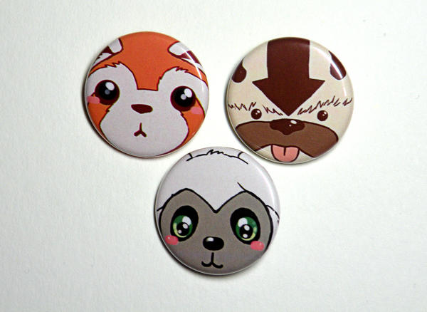 avatar the last airbender buttons by michellescribbles