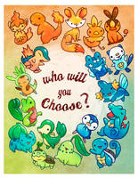 Which Pokemon starter will you choose? by michellescribbles