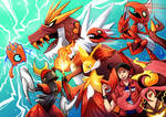 Pokemon team commission: team red