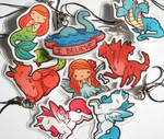 Laminated Mythical Charms