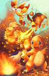 Fire starters with fennekin