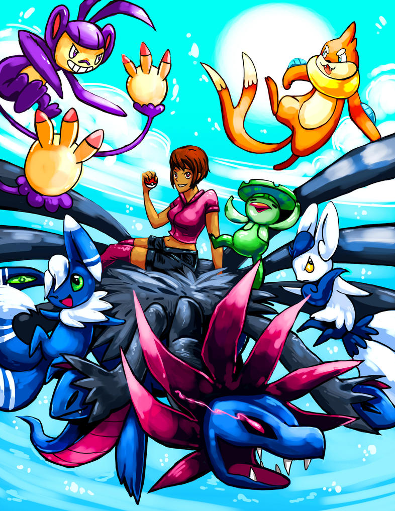 Pokemon team commission: Sky Ride by michellescribbles