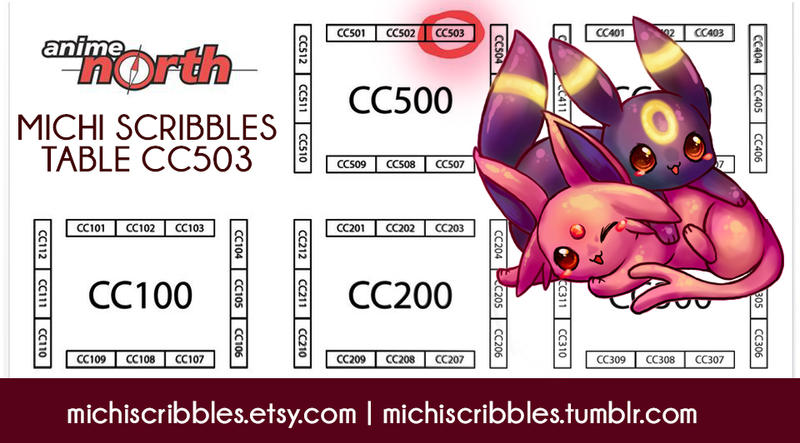 Anime North Map: Michelle Scribbles At Anime North by michellescribbles
