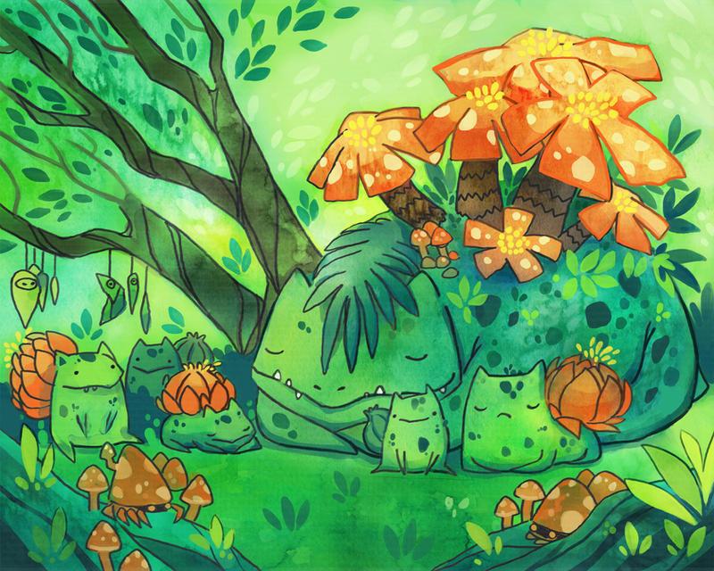 Grass Sanctuary by michellescribbles