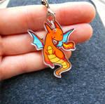 Orange Dragon Charm