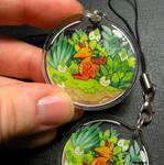Dragon terrarium keychain charm