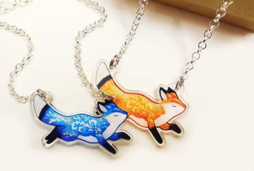 Fox Pendant Necklaces
