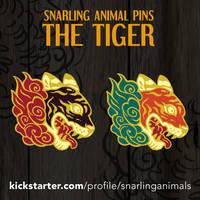 Tiger: Enamel Pin Kickstarter