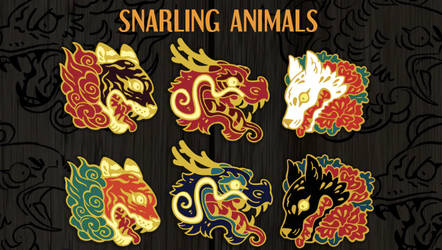 one dat left! Animal Enamel pin Kickstarter